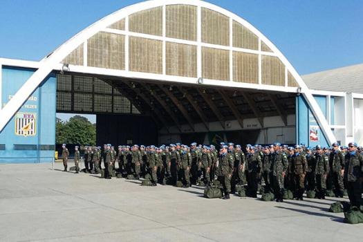 Militares brasileiros retornam do Haiti