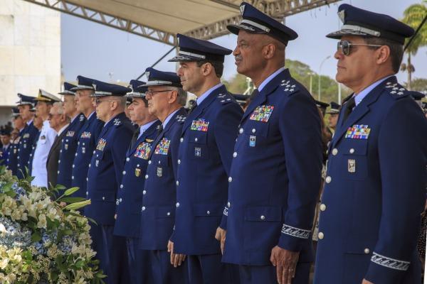 Oficiais-Generais das Forças Armadas durante a cerimônia
