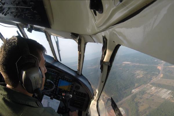 Durante o exercício, foram formados tripulantes em operações aeroterrestres