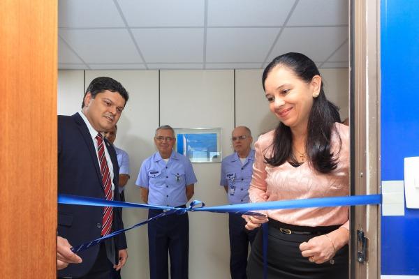 Ministra da AGU, Grace Mendonça, inaugurou as instalações da COJAER