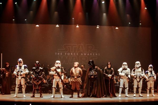 O concerto celebrou os heróis das telas e de fora delas