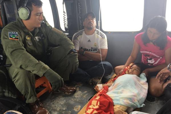 De acordo com o médico, sem a ajuda, a criança poderia perder a vida