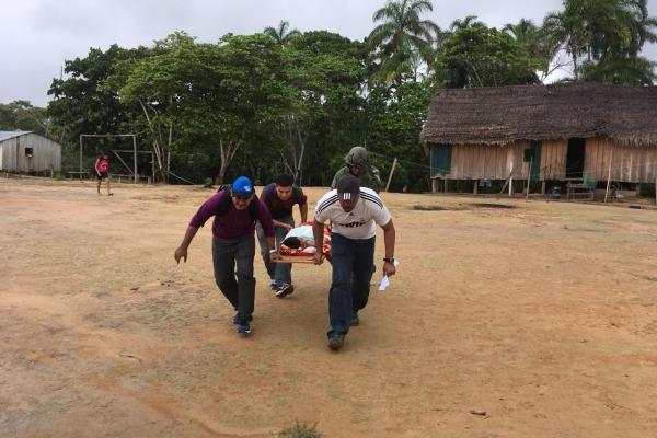 Esquadrão Harpia buscou criança na aldeia Nova Esperança