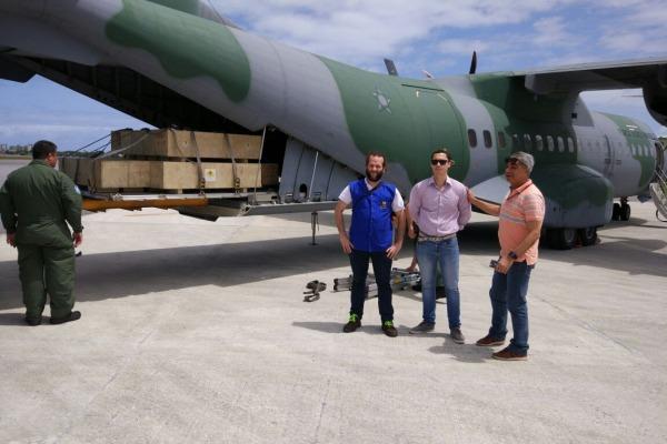 Transporte foi realizado pelo Esquadrão Onça em apoio à Comissão Nacional de Energia Nuclear
