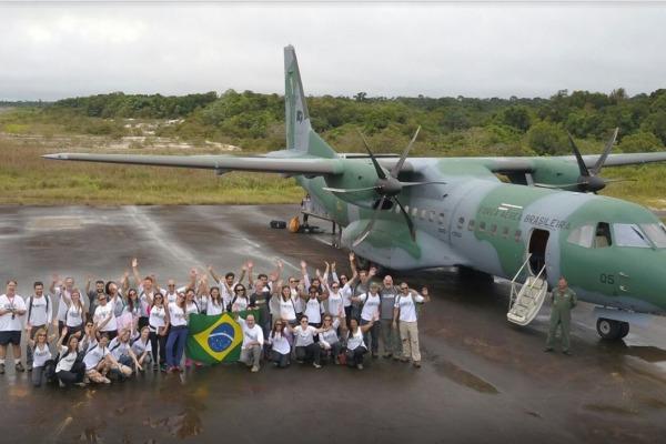 FAB está trabalhando no transporte de equipamentos e pessoas para a realização da 39ª Expedição da Saúde