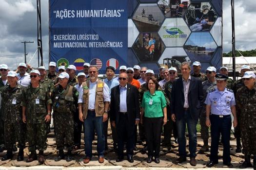 Exercício tem o objetivo de desenvolver doutrina para ações humanitárias