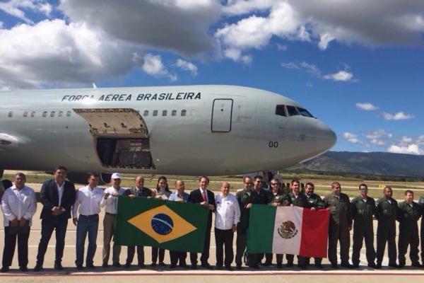Chegada da aeronave ao México