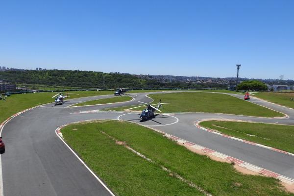 Movimentação nos helipontos de Interlagos durante evento