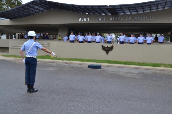 Cerimônia militar na Ala 1, em Brasília