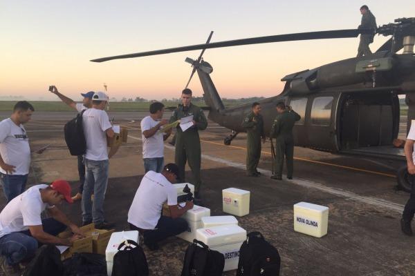 Esquadrão Harpia voou mais de 300 horas na operação em Gota 2017