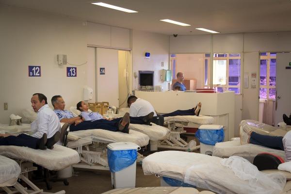 Militares da Ala 2, em Anápolis, também reforçaram os bancos de sangue do Hemocentro de Goiás