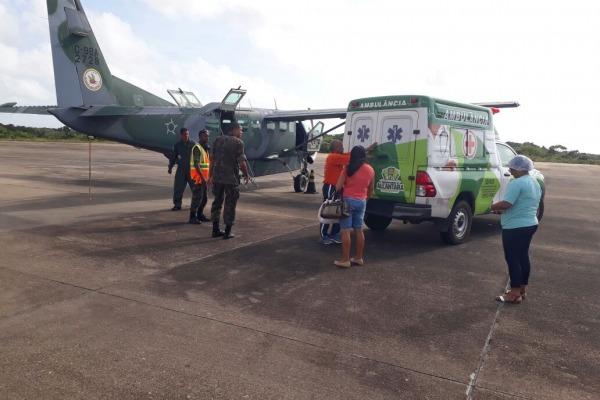 O transporte foi realizado pela aeronave do 1° ETA