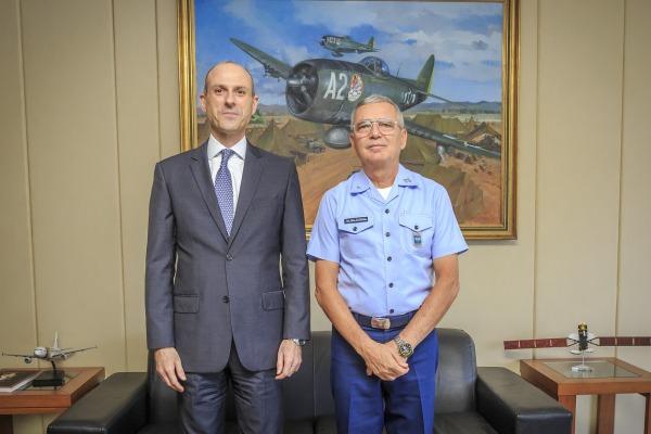 Encontro aconteceu no Comando da Aeronáutica, na Esplanada dos Ministérios, em Brasília (DF)