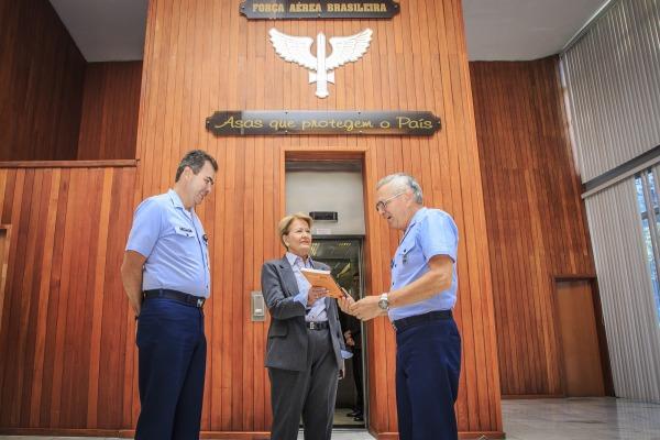 Tenente-Brigadeiro Rossato reuniu-se com a parlamentar, que faz parte da Comissão de Relações Exteriores e Defesa Nacional (CRE) do Senado Federal