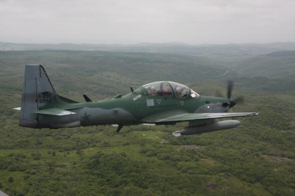 Aeronave A-29 Super Tucano foi utilizada na identificação