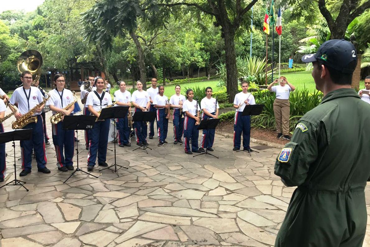 Major Wander no Colégio Tiradentes