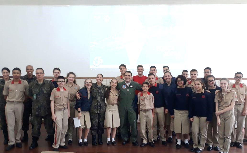 Major Pimentel no Colégio Militar de Porto Alegre