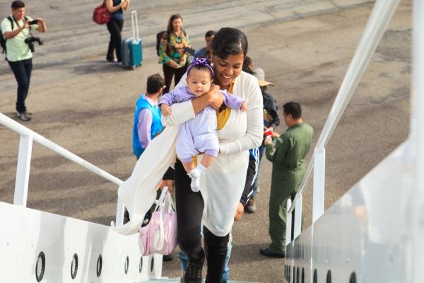 Na manhã desta quinta-feira (05/04), o Boeing 767 da Força Aérea Brasileira transportou 116 venezuelanos para São Paulo