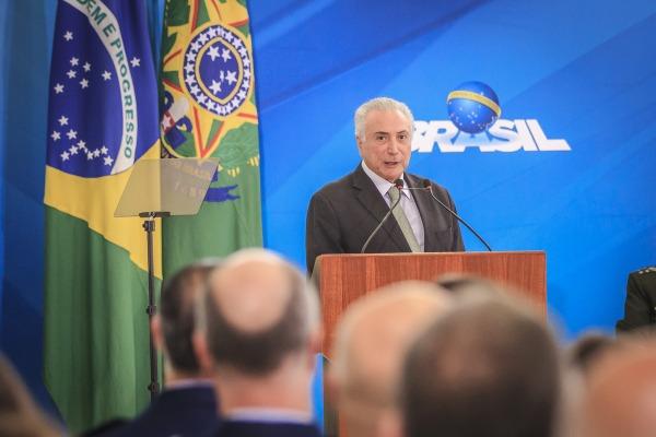 Presidente Michel Temer parabenizou os promovidos