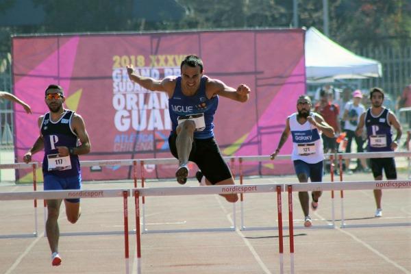 Nos 400 metros com barreiras, Artur Terezan foi o melhor em duas provas no Chile