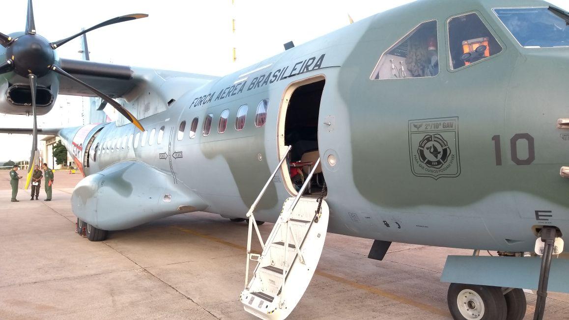 Aeronave C-105 Amazonas SAR em missão de transporte de órgãos