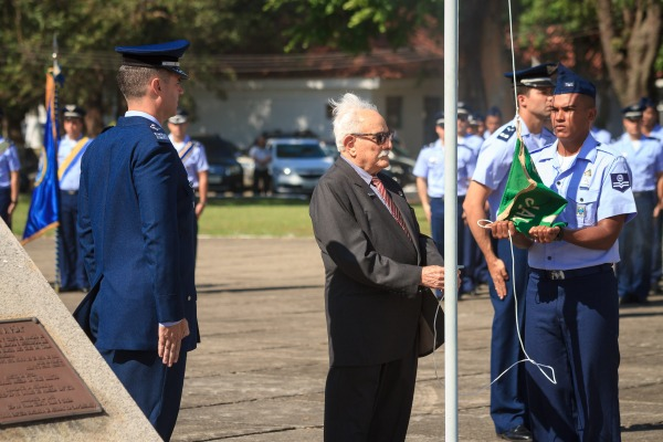 Veterano de guerra, Major João Rodrigues, no Preito aos Jambocks