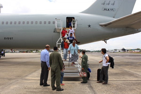 Esquadrão Corsário transportou venezuelanos para Manaus