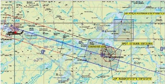 Imagem do radar do Salvaero