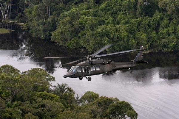 Helicóptero Black Hawk participou das buscas