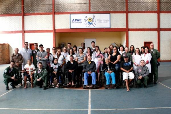 Equipe foi recebida por beneficiários e trabalhadores da instituição