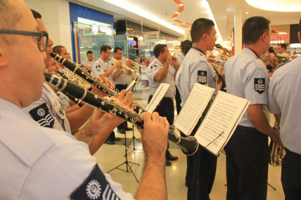 Banda de Música da Ala 7 participou do encerramento da mostra