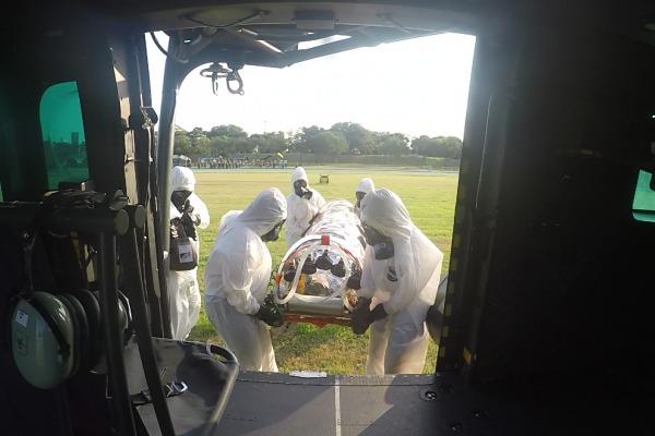 Treinamento contou com evacuação aeromédica