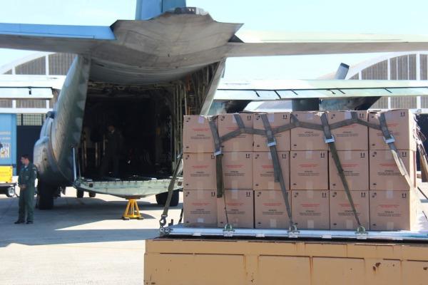 Ao todo, foram em torno de 25 toneladas de medicamentos que saíram de São Paulo com o apoio da Força Aérea
