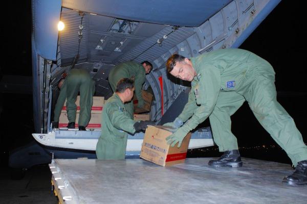 Foram 397 kg de medicamentos trazidos do Rio Grande do Sul e de Goiás