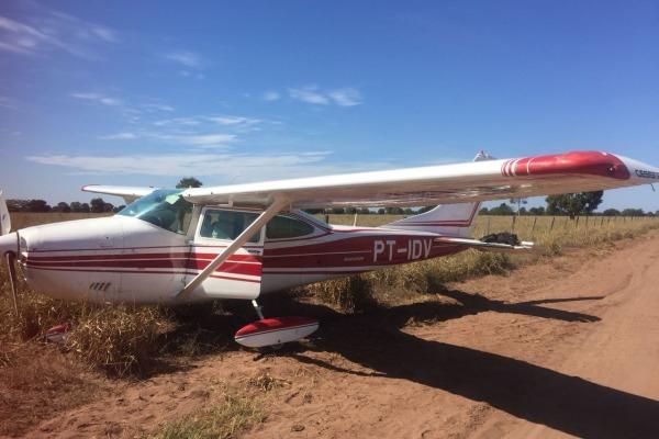 Avião interceptado fez pouso forçado em área rural do Mato Grosso