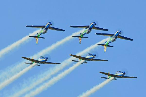 O show aéreo será realizado sábado (23) e domingo (24)