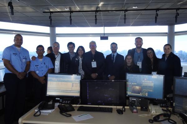 Visitantes conheceram a Torre de Controle do Aeroporto de Congonhas
