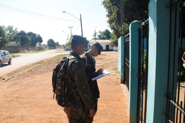 Sessenta militares devem visitar cerca de 12 mil casas nos próximos dias