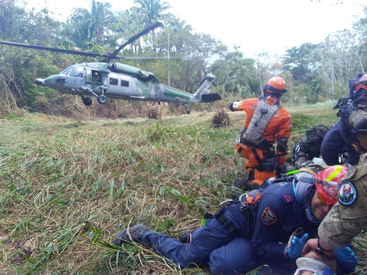 Os treinamentos simulam os cenários de Busca e Resgate e de Busca e Resgate em Combate