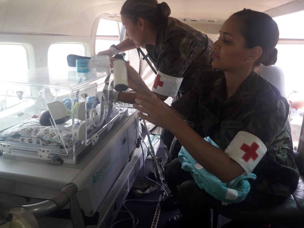 Para a missão foi montada, adaptada e energizada uma incubadora na aeronave C-98 Caravan