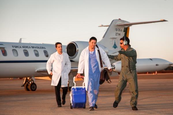Recentemente, o Esquadrão Arara realizou o transporte de um fígado de Cacoal (RO) para Rio Branco (AC)