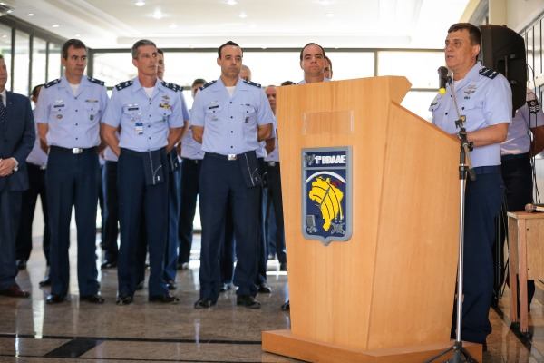 Comandante da 1ª BDAAE falou aos convidados