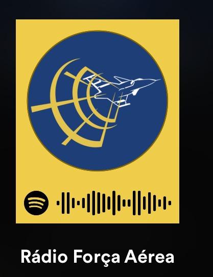 Acesse o perfil da Rádio Força Aérea por meio do aplicativo Spotify