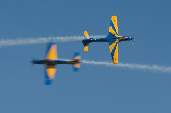 O público poderá conferir cerca de 30 minutos de manobras e acrobacias com as sete aeronaves A-29
