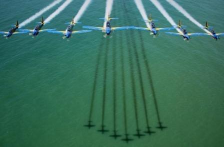 Nos dias 9 e 10 de novembro, as cidades de São Francisco do Sul (SC) e Araucária (PR) receberão a demonstração aérea