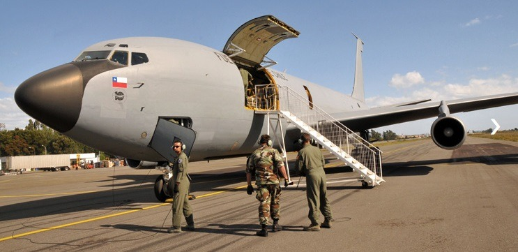 Reabastecedor KC-135, do Chile