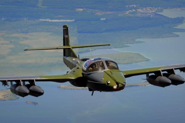 Caça A-37, do Uruguai