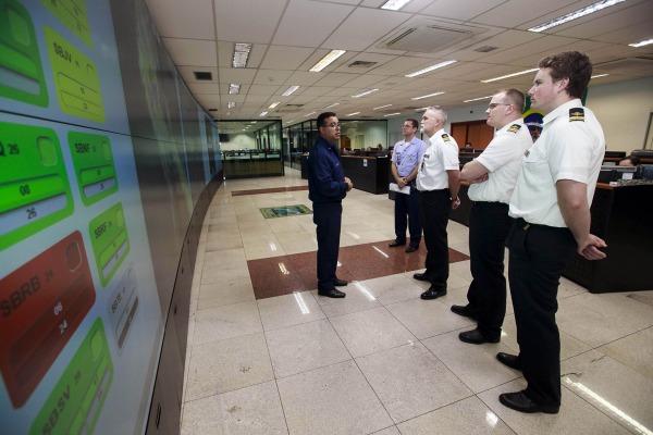 Delegação conheceu as ações de gerenciamento de fluxo de tráfego aéreo no Brasil e de garantia da segurança operacional