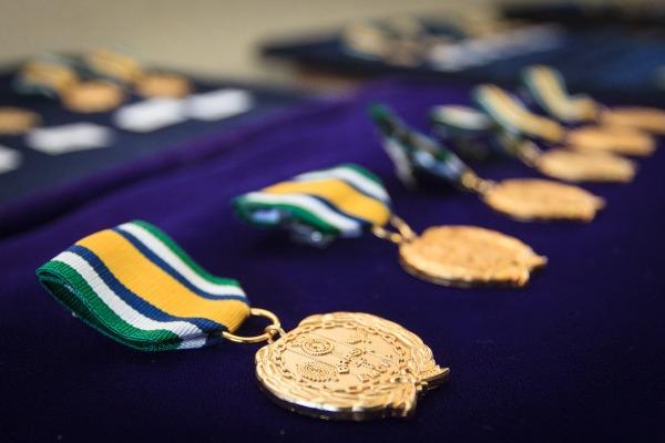 A cerimônia foi realizada no dia do aniversário de 8 anos de ativação do Estado-Maior Conjunto das Forças Armadas (EMCFA)