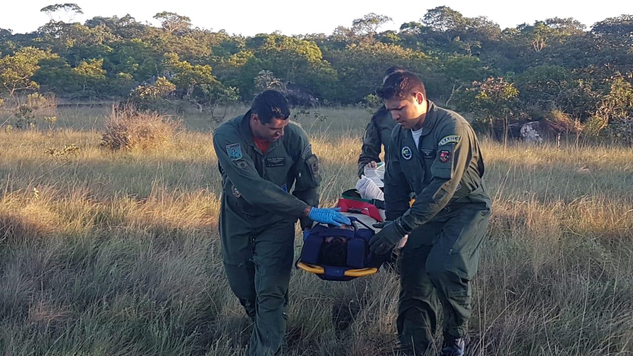 Militares da FAB resgataram os tripulantes